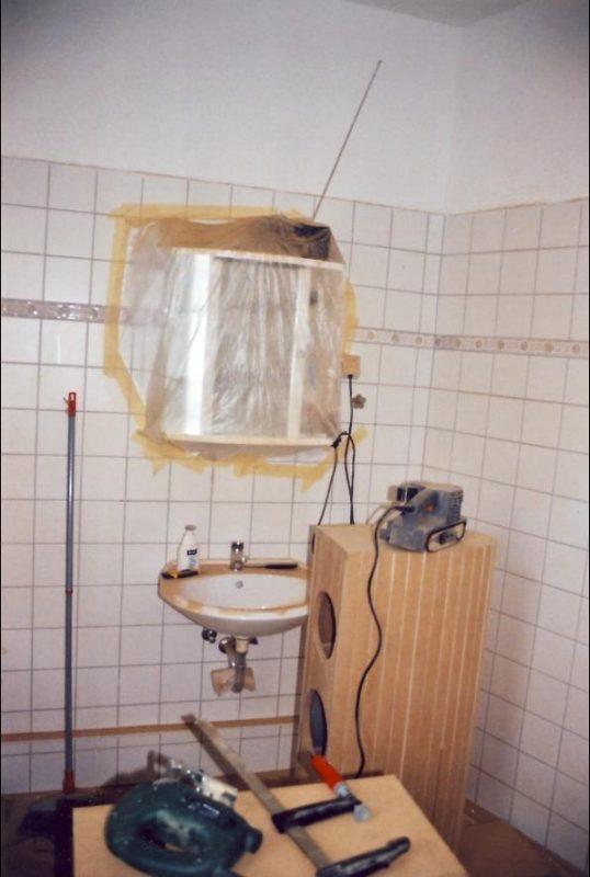 Badezimmer mit Schleifstaub