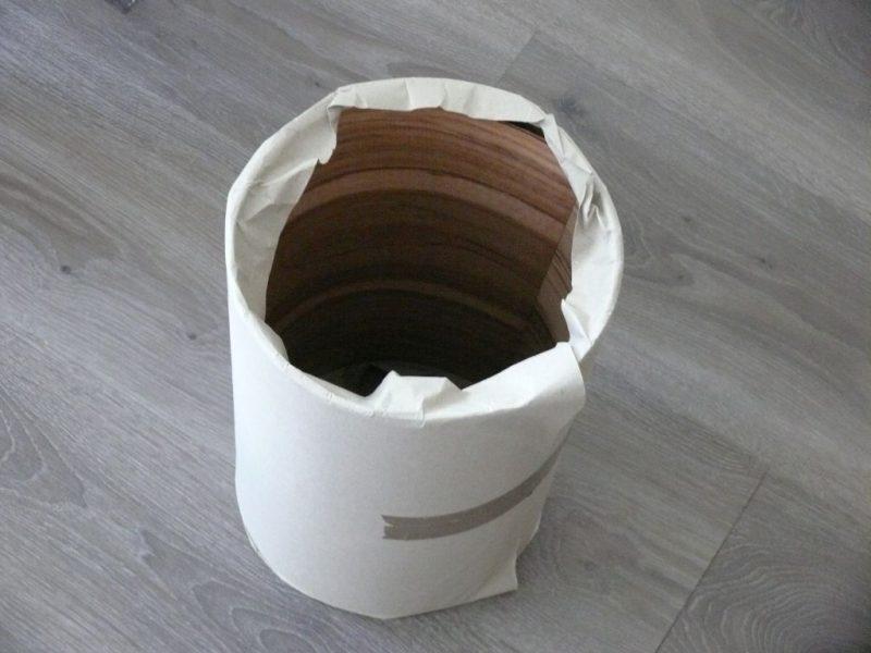 Aufgerollt hat die Lieferung einen Durchmesser von 23 cm
