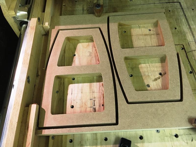 Versteifungen auf der CNC