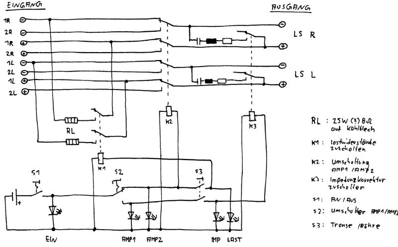 Verstärker-Umschalter – Lautsprecher selber bauen
