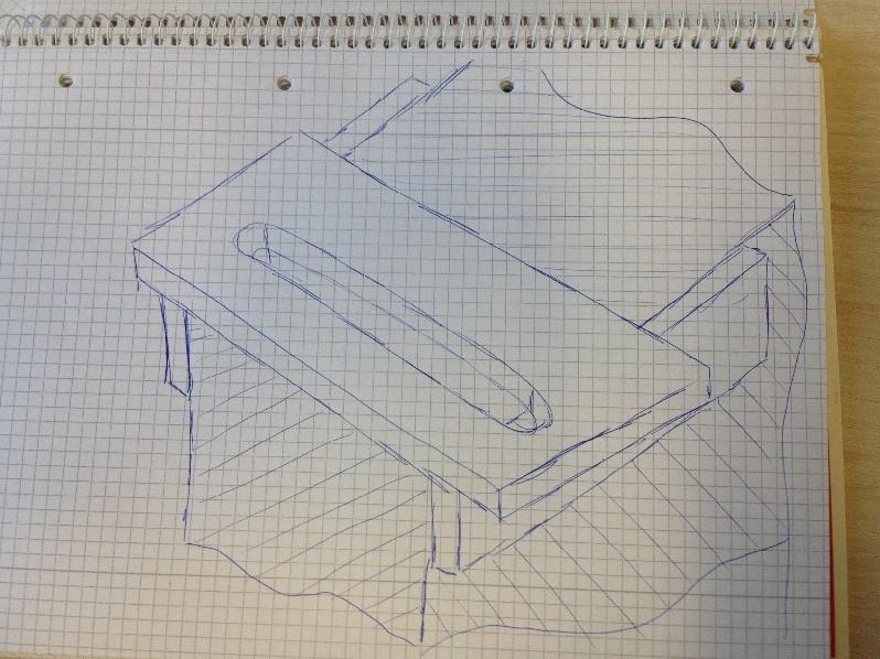 Zeichnung Lehre um Kanten zu fräsen